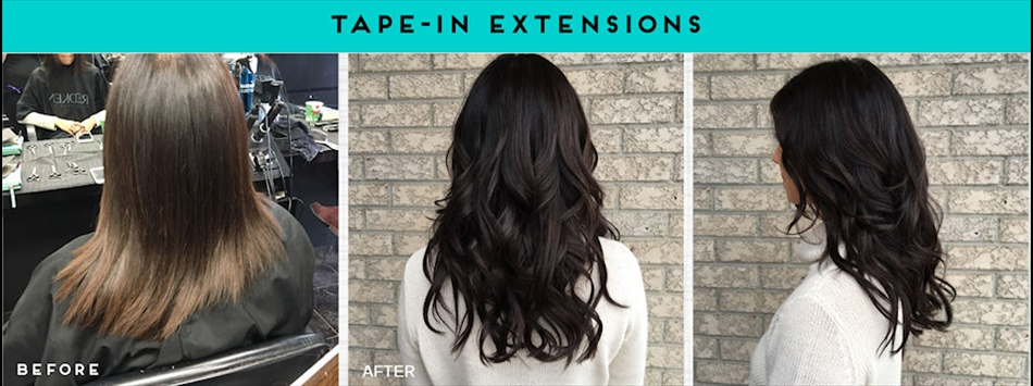 Tape in hair extensions are just one of the services we excel at